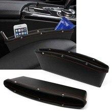 MAYITR PU Leather Catcher Box Caddy Car Seat Gap Slit Pocket Storage Organizer Ticket Card Sundries Case Black