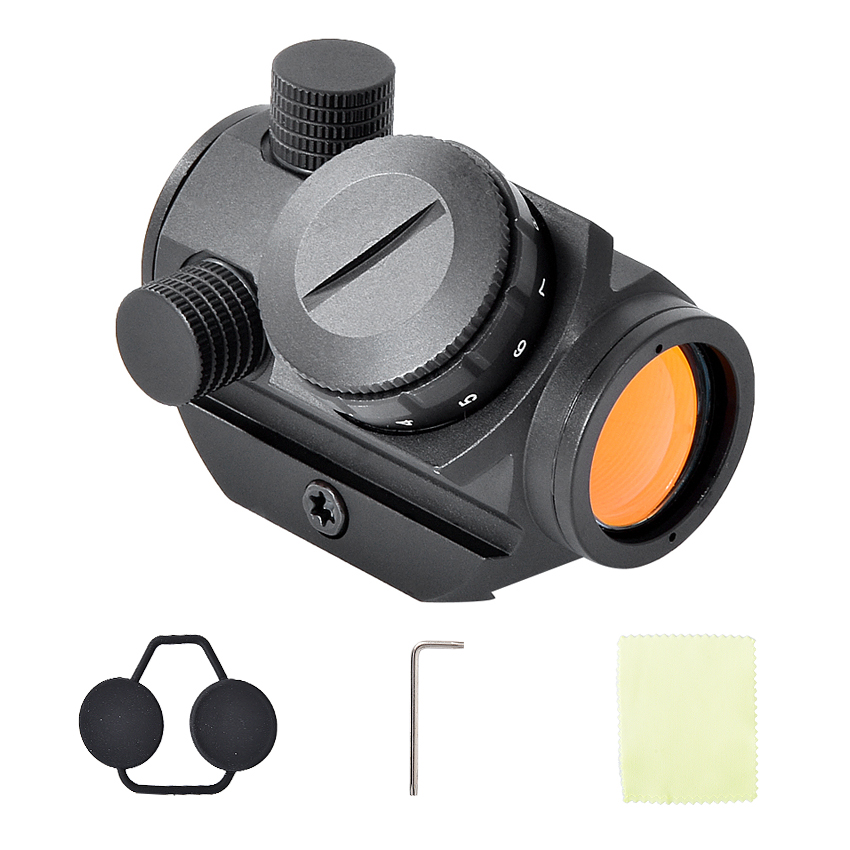 HD-26 Gun Sight Riflescope Tactical Mini Red Dot 11 Gear Brightness Adjustable Sight Rifle Scope With Mount For Hunting Shooting