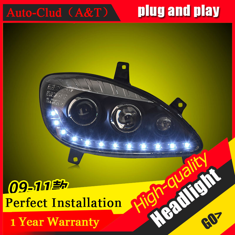 Auto Clud Car Styling For Benz viano headlights 2009-2011 For viano head lamp led DRL front Bi-Xenon Lens Double Beam HID KIT auto clud style led head lamp for benz w163 ml320 ml280 ml350 ml430 led headlights signal led drl hid bi xenon lens low beam
