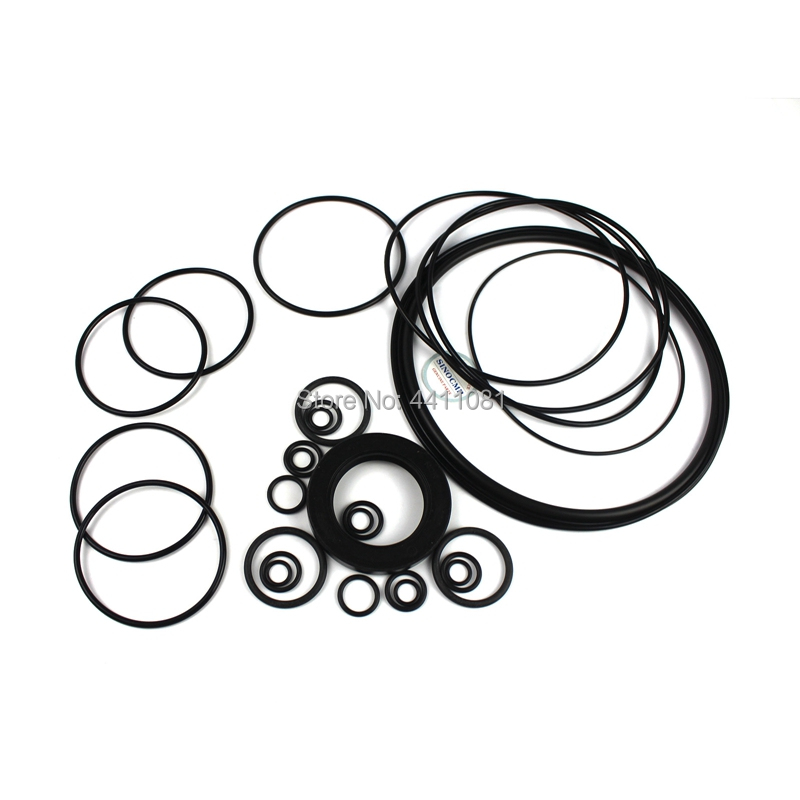 For Komatsu PC300-8 Hydraulic Pump Seal Repair Service Kit Excavator Oil Seals, 3 month warranty splatter paint dot print long sleeve shirt