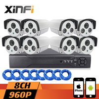 XINFI 8CH Surveillance System HDMI NVR Network Video Recorder 720P Cctv System HD Home Security Camera
