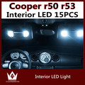Night Lord 15pcs car light source Error Free LED Interior Light Kit Package for MINI Cooper r50 r53 S/JCW accessories 2001-2006