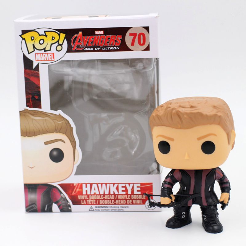 Funko <font><b>POP</b></font> Official <font><b>Vinyl</b></font> Action Figure <font><b>Avengers</b></font> <font><b>Age</b></font> <font><b>of</b></font> <font><b>Ultron</b></font> <font><b>Hawkeye</b></font> <font><b>Bobble</b></font> Head Collectible Decoration Toy with Original Box
