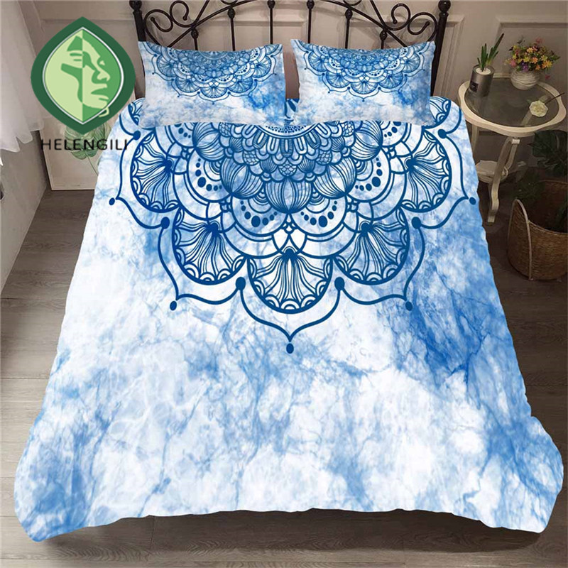 HELENGILI 3D Bedding Set Starry Sky Mandala Print Duvet Cover Set Bedclothes with Pillowcase Bed Set Home Textiles #MTL-14HELENGILI 3D Bedding Set Starry Sky Mandala Print Duvet Cover Set Bedclothes with Pillowcase Bed Set Home Textiles #MTL-14