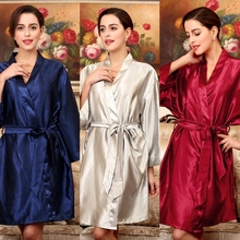 YT009 Summer Sexy Silk Satin Robe Bathrobe Dressing Gowns For Women Perfect Bridesmaid Robes Nightgown Fashion Hen Party Robes
