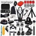 Gopro acessórios set go pro kit de montagem para SJ4000 gopro hero5 4 3 2 black edition sjcam sj5000 camera case xiaoyi peito tripé