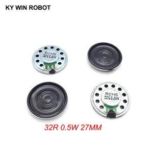 Image 1 - 5 sztuk/partia nowy ultra cienki Mini głośnik 32 ohm 0.5 watt 0.5W 32R głośnik średnica 27MM 2.7CM grubość 5MM