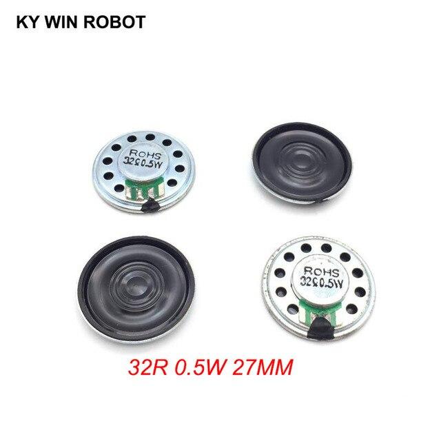 5 sztuk/partia nowy ultra cienki Mini głośnik 32 ohm 0.5 watt 0.5W 32R głośnik średnica 27MM 2.7CM grubość 5MM