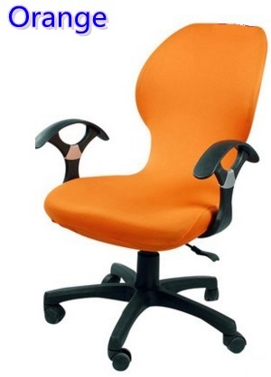 Orange colour lycra computer chair cover fit for office chair with armrest spandex chair cover decoration wholesale