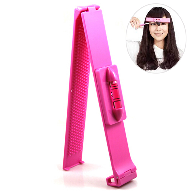 Hot Hair Bangs Clippers Trimmer,Pink Plastic Level ...