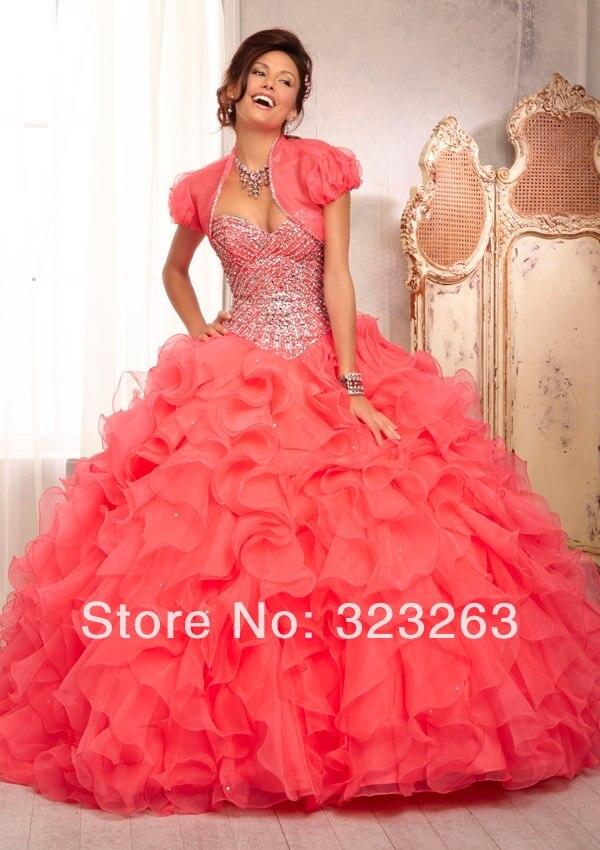 Melon color quince dresses