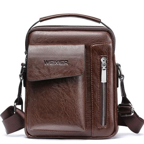 Casual Men Shoulder Bag Vintage Crossbody Bags High Quality Male Bag Leather Handbag Men Messenger Bags WBS510-2 Pakistan
