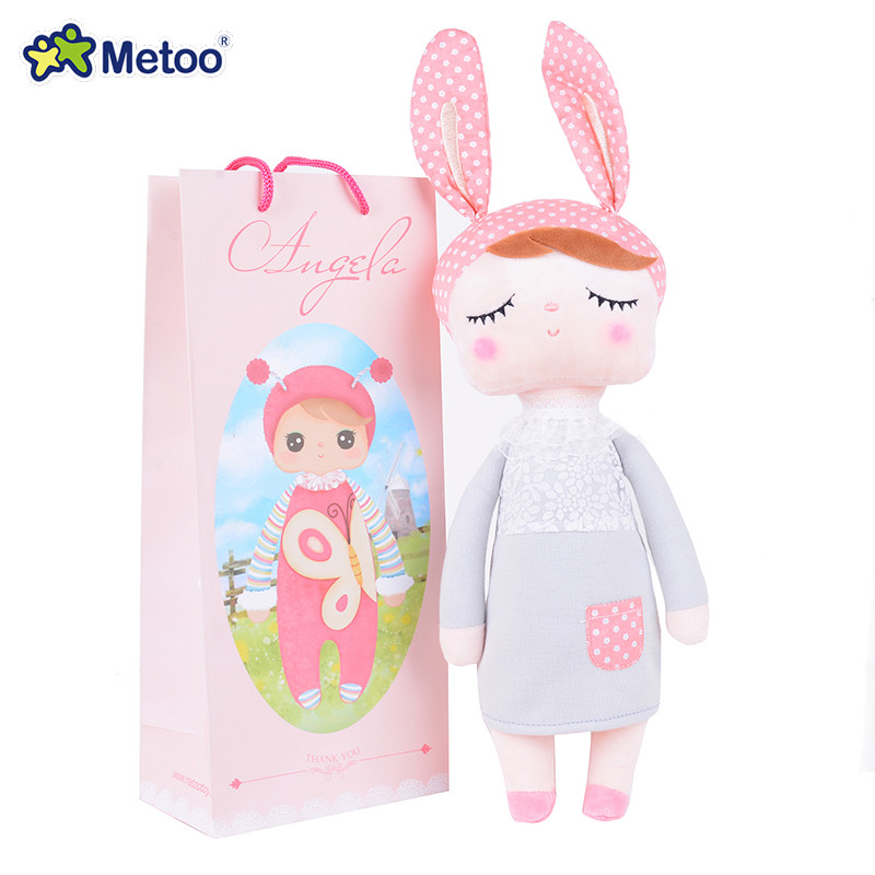 Lovely plush&stuffed toy Angela dolls rabbit animal original Metoo design for Children baby Birthday Christmas Gift metoo angela plush dolls 17 7inch baby toy doll sweet lovely stuffed toys dolls for kids girls birthday christmas gift with bag