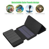 5 W Cargador solar 2 USB 10000 mAh cargador de teléfono solar 2 USB carga de la batería para el iPhone 6 6 s 7 7 más iPhone 8 10 iPad smasung.