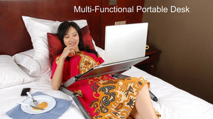 Image 5 - High Quality Portable foldable adjustable folding table for Laptop Desk Computer Desk mesa para notebook Stand Tray For Sofa Bed