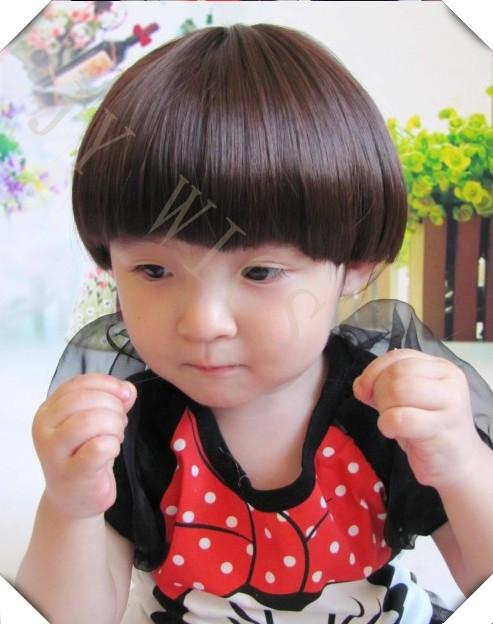 Awesome Aliexpress Com Buy Black Kid Wig Children Short Straight Bob Short Hairstyles Gunalazisus