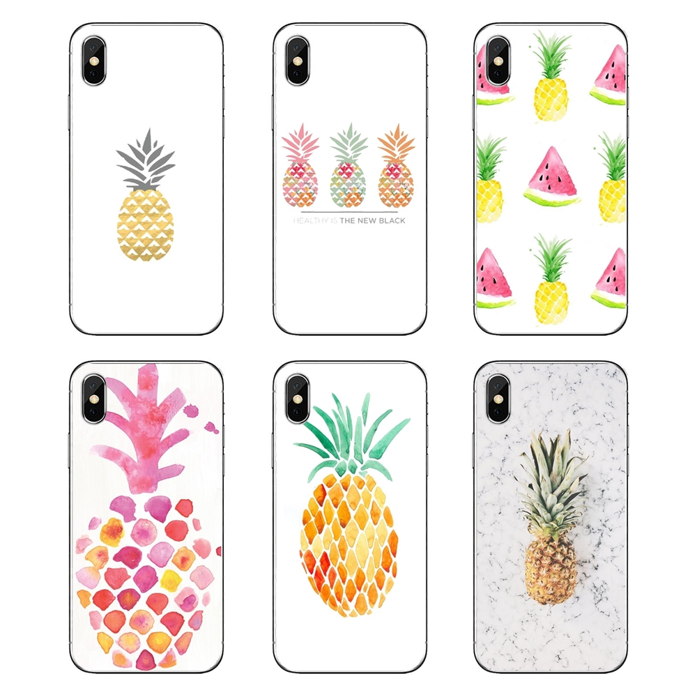 Us 099 For Xiaomi Redmi 4x S2 3s Note 3 4 5 6 6a Por Pocophone F1 Mi 6 Cute Lovely Pineapple Fruit Iphone Wallpaper 2 Tpu Silicone Case In Fitted