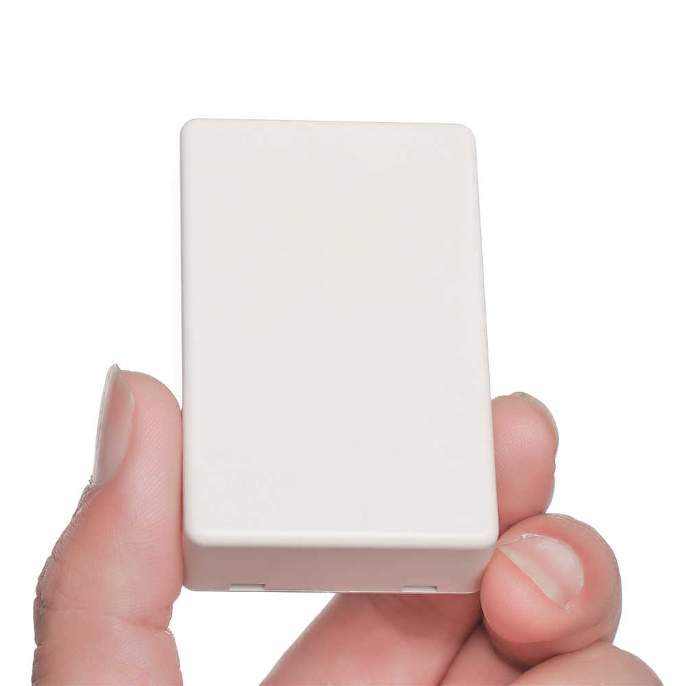 1PC de alta calidad Blanco ABS plástico impermeable cubierta proyecto electrónico caja de instrumentos caja cajas de caja de 8 tamaños