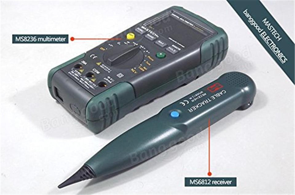 1pc MASTECH MS8236 AutoRange Digital Multimeter LAN Tester Net Cable Tracker Tone Telephone line Check Noncontact Voltage Detect