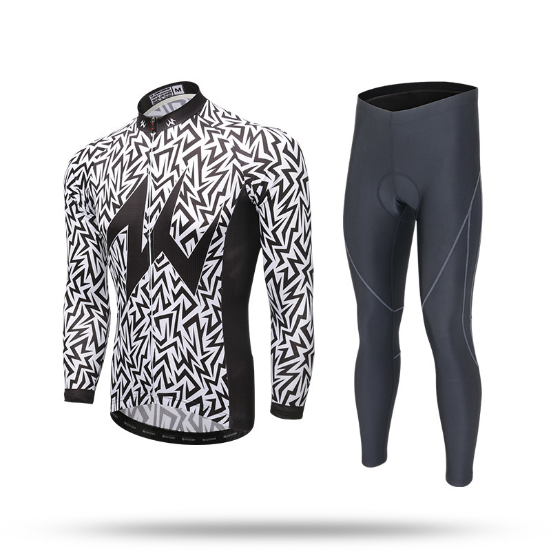BOODUN Cycling Jerseys Set Spring Summer Autumn Long Sleeves Racing MTB Suit Bicycle Stripe live team cycling jerseys suit a001