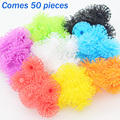 50pcs Building Block Construction Set Toy Christmas Gifts Plastic Model Kits Puffer Ball Bricks Thorn Ball DIY Toys for Children