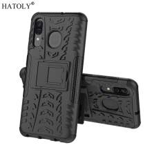 For Samsung Galaxy A30 Case Shell Hard Rubber Silicone PC Cover for Phone A305F