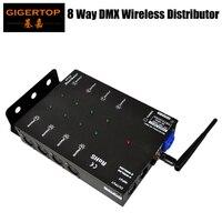 8 ערוצים DMX מפיץ עם 2.4 גרם אלחוטי DMX 512  תקשורת מרחק 300 m באיכות גבוהה ומגוון להשתמש DMX ספליטר