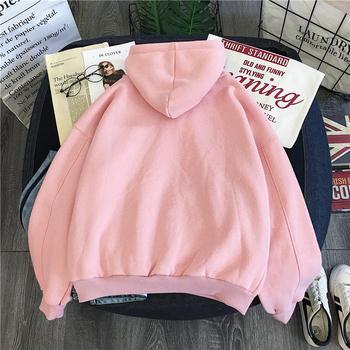 Winter Women Clothing Long Sleeved Print Letter Harajuku Blackpink Women Hoodies Sweatshirt Fashion Pocket Lady Pullover Female