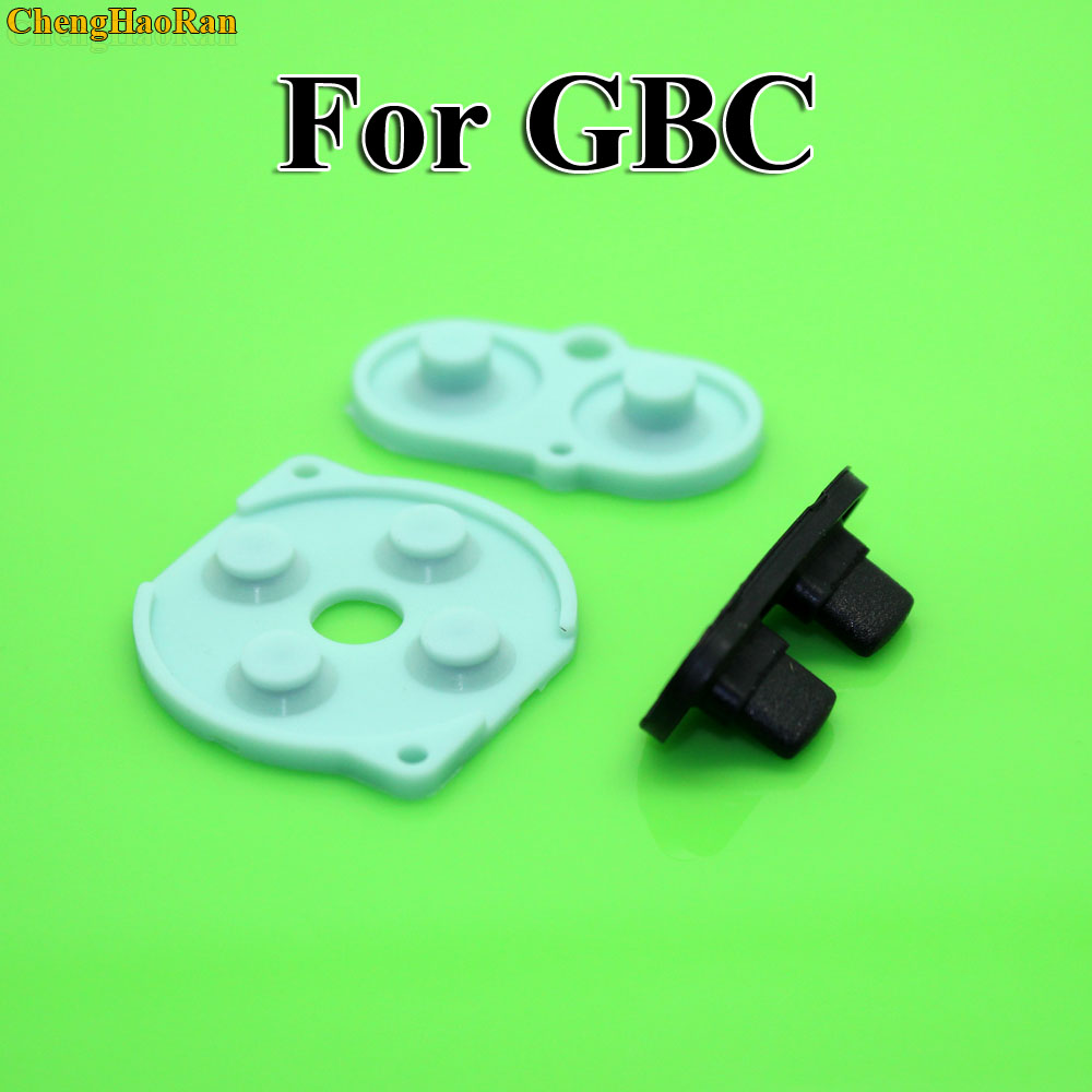 Image 2 - 2   10 sets For Nintendo Game Boy Color/Colour Button Silicone Rubber Pad Conductive A B Select Start Rubber Button For GBC-in Replacement Parts & Accessories from Consumer Electronics