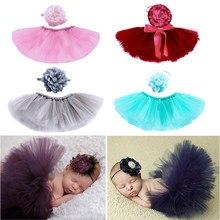 Ropa de fotografía para bebé recién nacido de 0 a 4 meses, neumático de flor, vestido para niña, sombreros artesanales atrezos para fotografía de bebés, accesorios para fotos