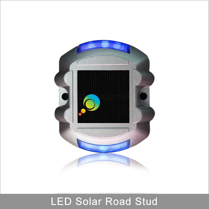 Factory Direct Price Blue Horseshoe 3M Reflector Aluminous Flashing Led Solar Road Stud