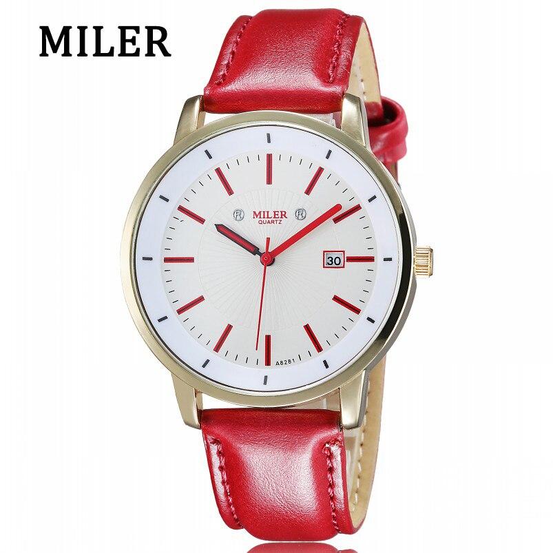 9cba2269bc9 2018 Mulheres Relógios de Luxo de Genebra Relógio de Quartzo Criativo Minimalista  Simples Couro Analógica Vestido senhoras Relógio Relogio feminino Topo