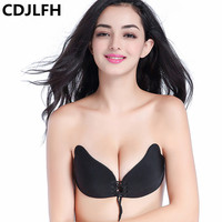 Sexy Women Strapless Bra Invisible Push Up Bra Silicone Backless Wedding Bralette Silicone Bust Front Bra Women UnderwearA B C D