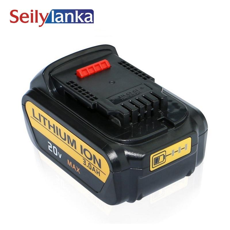 Higher Capacity 4000mAh 20V Lithiun ion Battery for Dewalt DCB200 DCB204-2 DCB180 DCB181 DCB182 DCB203 DCB201 DCB201-2 DCD740 melasta 20v 4000mah lithiun ion battery charger for dewalt dcb200 dcb204 2 dcb180 dcb181 dcb182 dcb203 dcb201 dcb201 2 dcd740