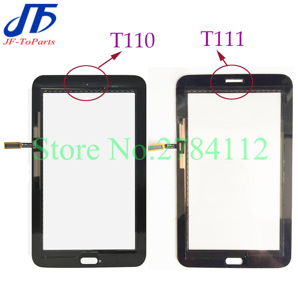 5Pcs Touch Panel replacement For Samsung Galaxy Tab 3 Lite T111 T110 Touch Screen Digitizer outer glass white black colour