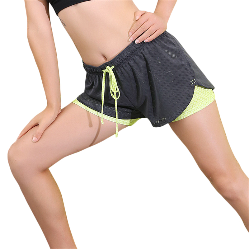 Womens Running Shorts 2 In 1 Running Tights Short Women's Gym Cool Woman Sport Short Fitness Running Shorts