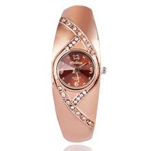2016 New hot sell Fashion women quartz watches rose gold ladies Bangle Watch popular designer rhinestone watch relogio feminino