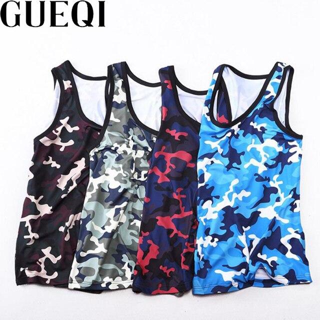 6657b56a3424ef GEUQI Camouflage Printing Man Tank Tops Plus Size M-4XL O-Neck Sleeveless  T-Shirts 2017 Charm Men High Elasticity Vest Tees
