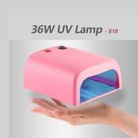 UV Lamp 818 Dryer Nail 36W Nail Gel Lamp Mini Lamp For Nails Manicure Machine UV Gel LED Nail Dryers Lamps EU Plug 3 x 12W Power