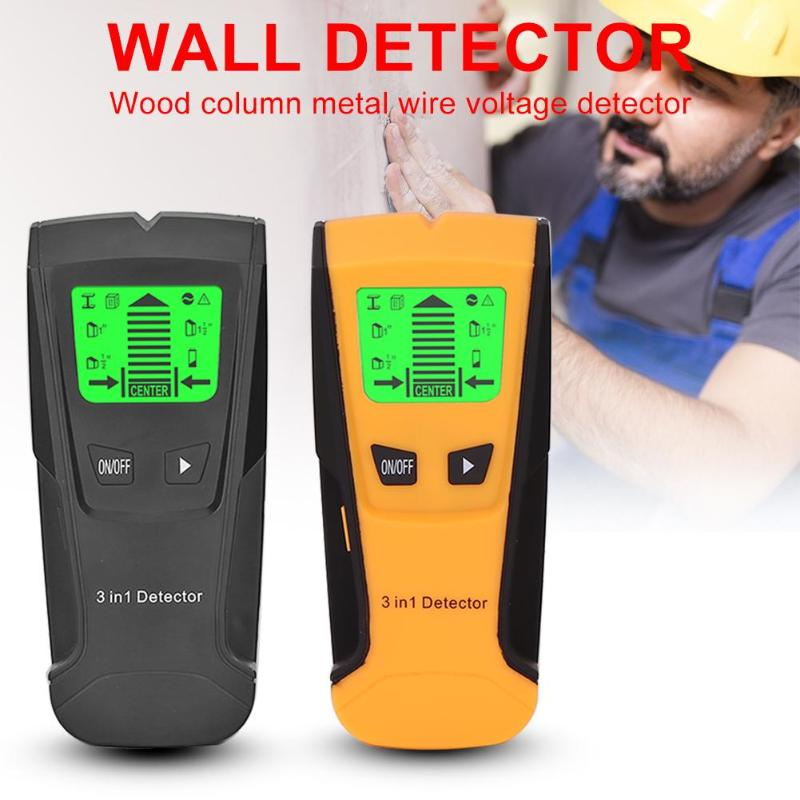 Image 2 - 3 In 1 Metal Detector Find Metal Wood Studs AC Voltage Live Wire Detect Wall Scanner Electric Box Finder Wall Detector-in Industrial Metal Detectors from Tools