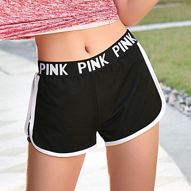 Love Pink Women Active Shorts Tumblr Booty Fitness Kyliejenner Sporting High Waist Joggers Shorts Bermuda Feminino