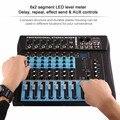 CT8 8 Kanal Professionelle Stereo Mixer Live USB Studio Audio Sound Konsole Netzwerk Anker Gerät Vocal Wirkung Prozessor