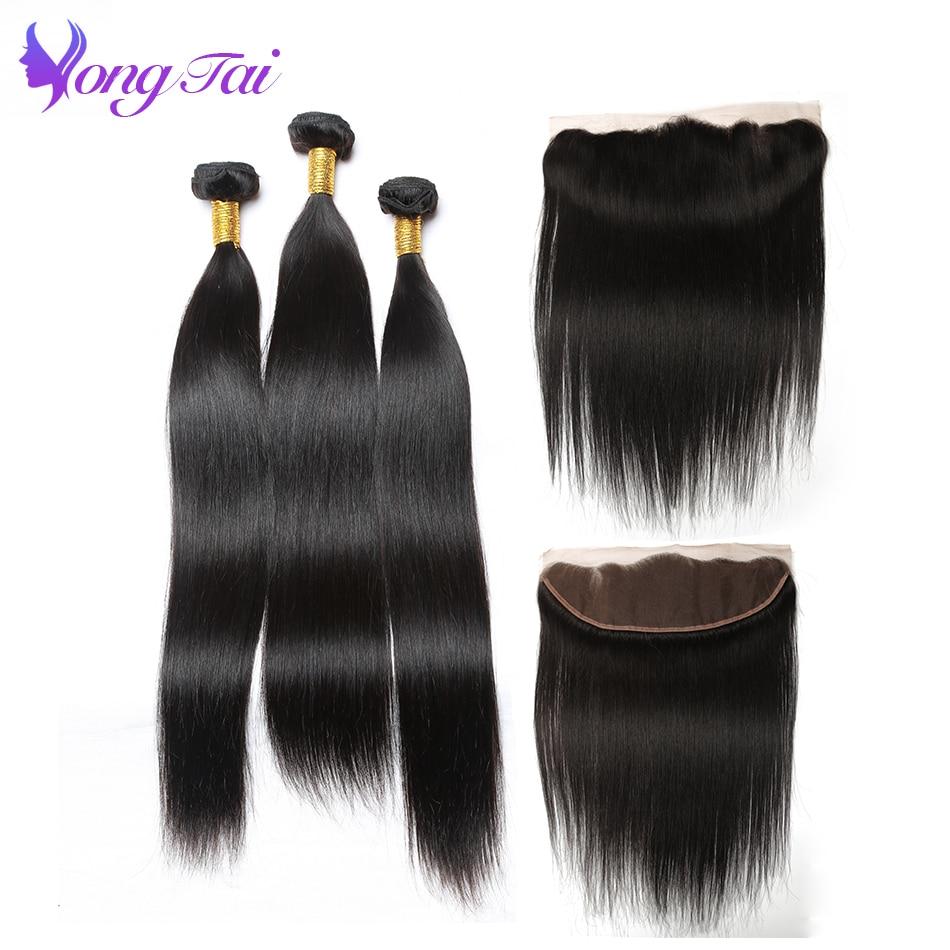 Yongtai Hair Peruvian Hair Bundles with closure Straight Hair Bundles With Closure 100 remy Human Hair