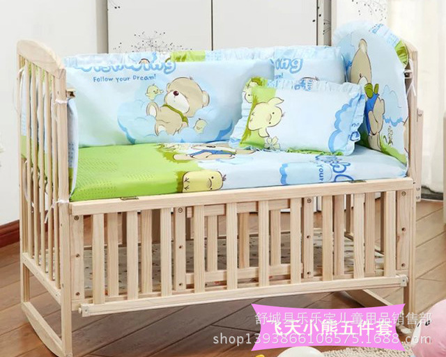 Dozens of Color Cotton Baby Bedding Set of Five Detachable Bed Bed By Bed Set