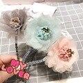 Корея Аксессуары Для Волос прекрасный Цветок Корона Волос Группа Шифон Повязка Для Волос Девушки Лук Принцесса 4