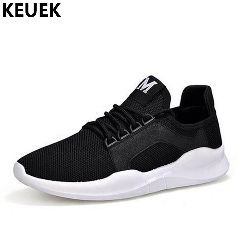 Spring Summer Breathable Mesh cloth Casual shoes Light Men Sneakers Lace-Up Flats Male Loafers 03A