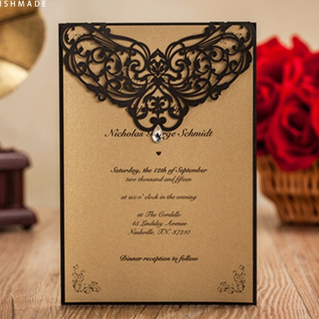 12pcs Lot Tiffany Blue Laser Cut Vines Design Romantic Wedding Invitation Cards Business