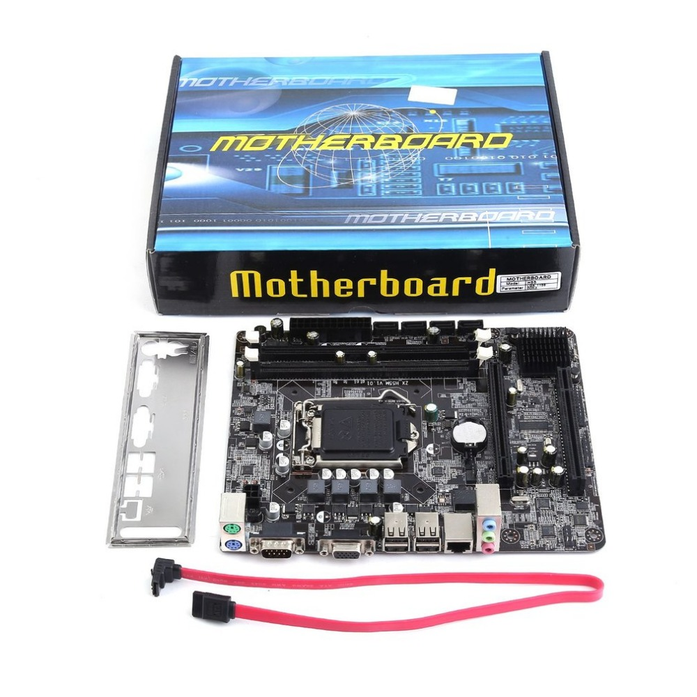 2018 new Professional Motherboard H55 A1 LGA 1156 DDR3 RAM 8G Board Desktop Computer Motherboard 6 Channel Mainboard hot sell brand new for g skill ddr3 1600 8g 2 ram for desktop computer overclocking f3 12800cl10d 16gbxl