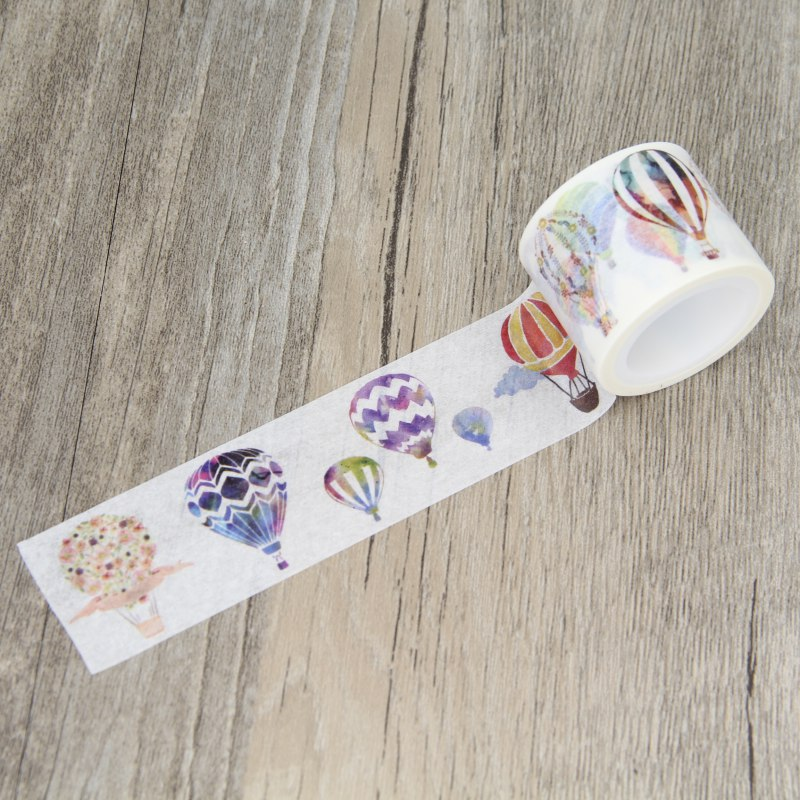 Nice Hot Air Balloon Washi Tape Paper Masking Tapes Party Decorative Stickers Diary Deco Scrapbooking Sticker