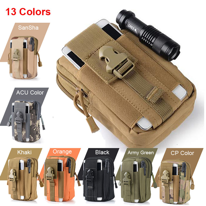 Universal Outdoor Tactical Holster Military Molle Hip Waist Belt Bag Wallet Pouch Purse Phone Case emerso Zipper for iPhone 7 8 tactical molle pouch cell phone case belt clip holster edc utility gadget 1000d nylon men waist bag outdoor gear black